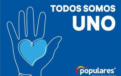 El PP de Coín se une a la campaña 'Todos somos uno' para ayudar a las personas más afectadas por la crisis del coronavirus